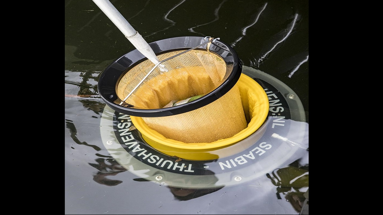 A seabin is a submersible garbage bin that collects floating debris, surface oil and pollutants in the water.