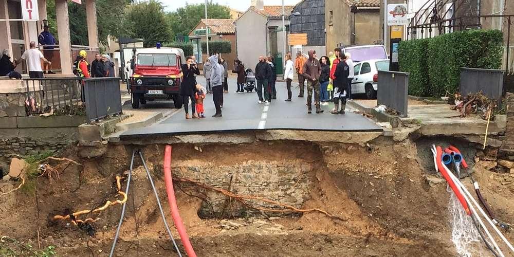 La commune de Villegailhenc près de Carcasonne est endeuillée avec la mort de quatre personnes.ERIC CABANIS / AFP