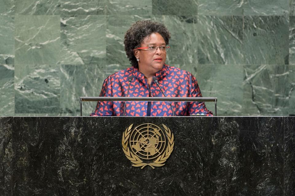 Prime Minister Mia Amor Mottley has been very busy since assuming office on May 25, 2018. (Photo Credit: Mia Amor Mottley Facebook page)