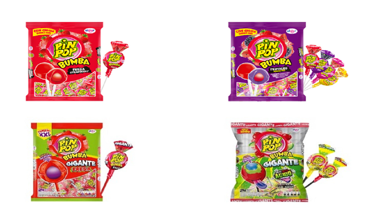 Among the confectionery products now distributed by MDS are the Pin Pop, the Yogueta, Frunas, Chupetoon and Masti brands in hard candy and lollipops.