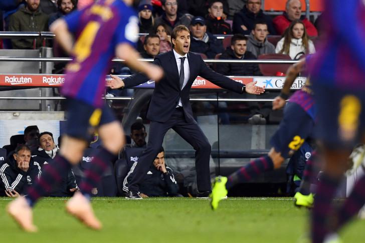 L'entraîneur espagnol du Real Madrid, Julen Lopetegui, lors du match de Liga face à Barcelone, au Camp Nou, le 28 octobre 2018