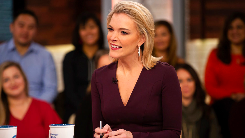 "This Oct. 22, 2018 photo released by NBC shows Megyn Kelly on the set of her show ""Megyn Kelly Today,"" in New York."