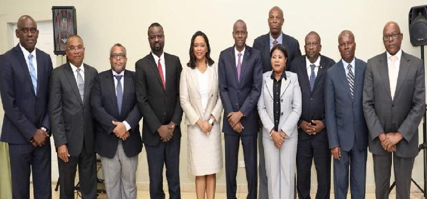 Août 2018, le président reçoit les membres du CSS au Palais national