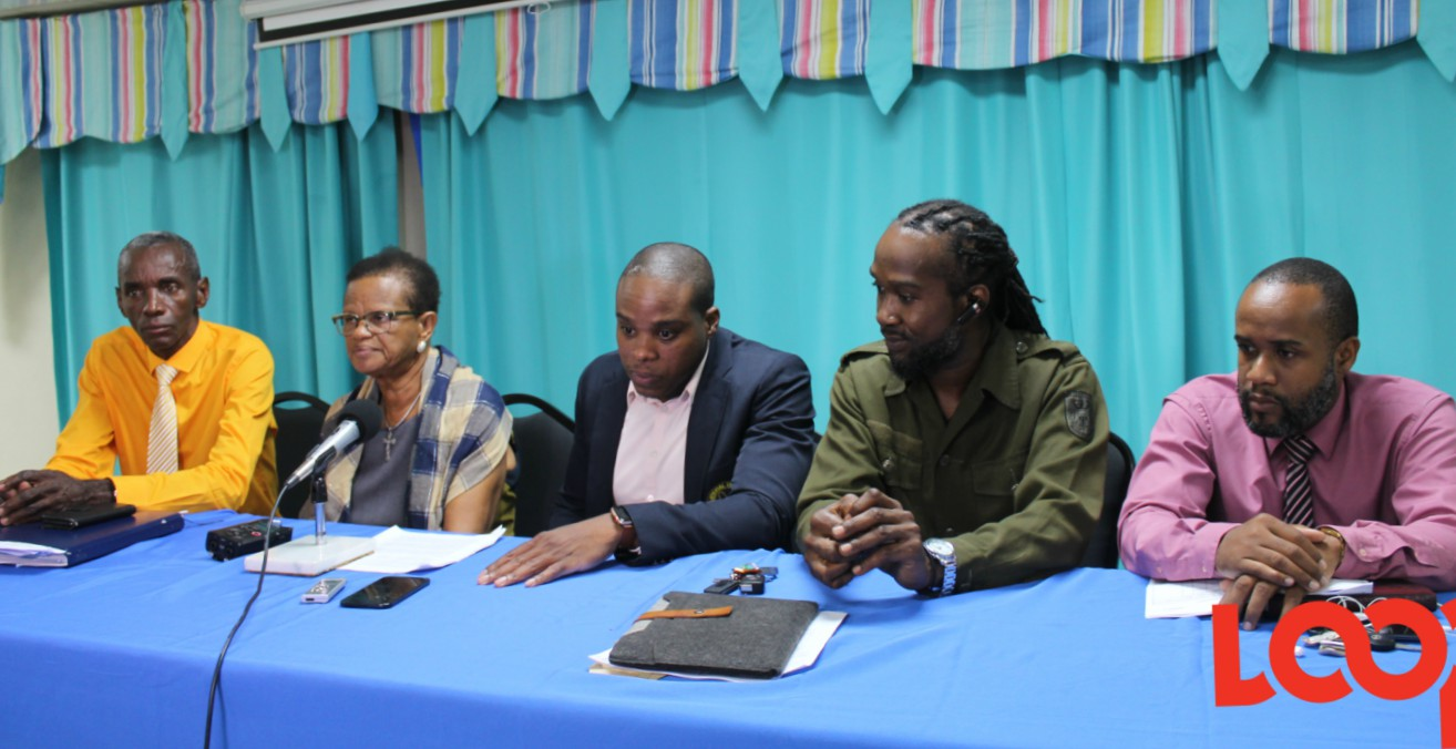 (L-R) Wayne Walrond, Assistant General Secretary; Roslyn Smith, General Secretary; Akanni McDowall, President; Fabian Jones, 1st Vice President and Corey Marshall, Deputy General Treasurer.