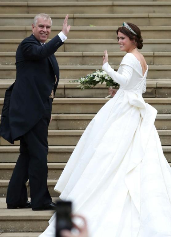 La princesse Eugenie et son compagnon Jack Brooksbank se marient à Windsor, le 12 octobre 2018