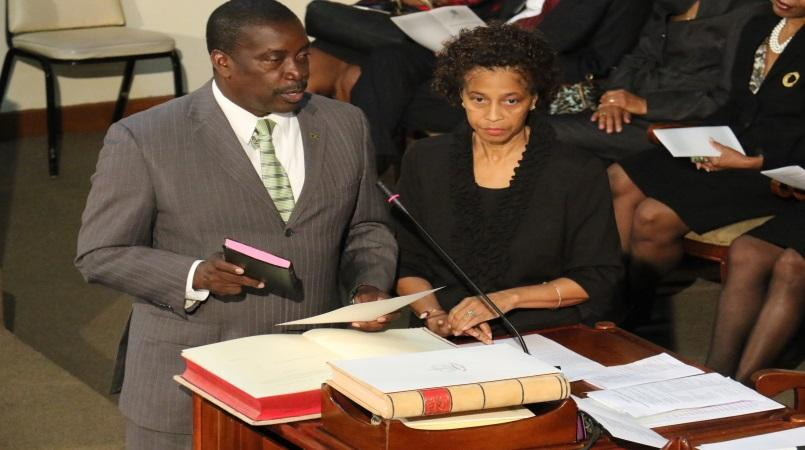 File photo of Montague being sworn in as a Member of Parliament in 2016.