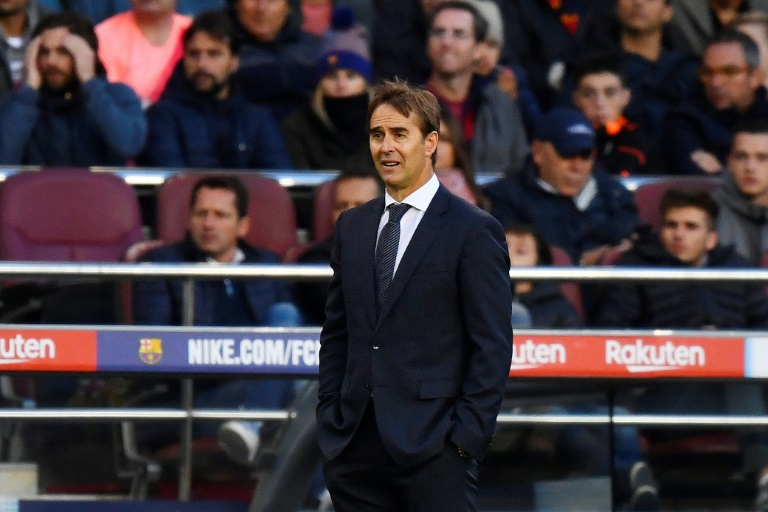 L'entraîneur du Real Madrid Julen Lopetegui lors du déplacement au Real Madrid le 28 octobre 2018