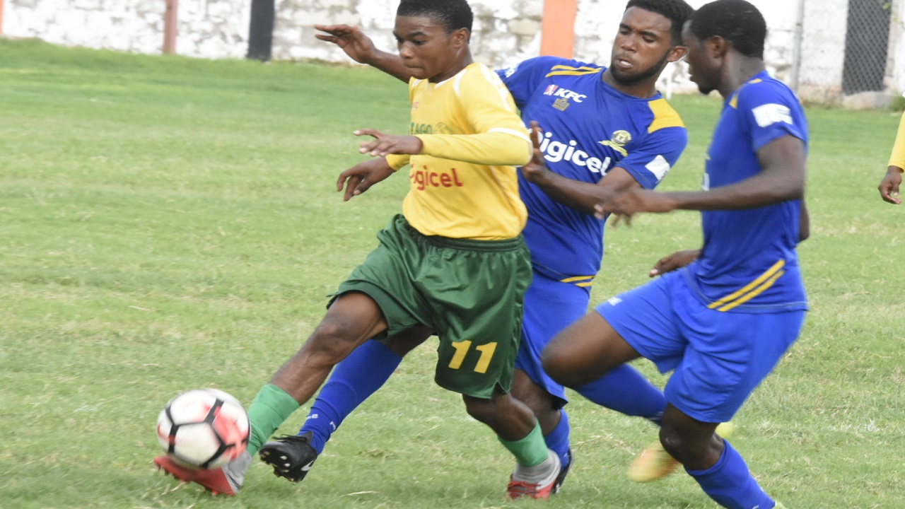 Action from the  ISSA/Digicel Manning Cup Group D top-of-the-table second leg fixture between Denham Town High and St Jago High  at the Edward Seaga Sports Complex on Saturday, October 6, 2018.  Denham Town won 1-0. (PHOTOS: Marlon Reid).