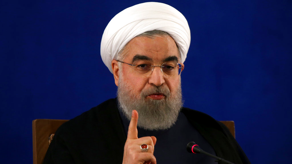 Iranian President Hassan Rouhani gives a press conference in Tehran, Iran, Monday, May 22, 2017. (AP Photo/Vahid Salemi)