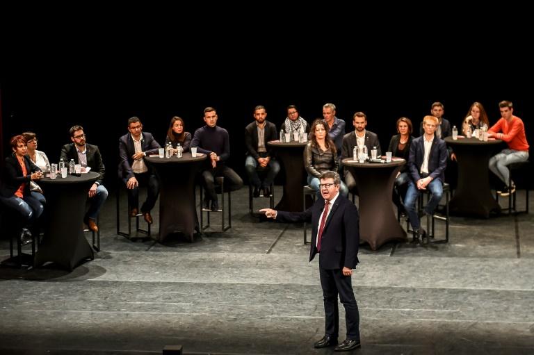 Le chef de file de La France insoumise, Jean-Luc Mélenchon, en meeting à Lille le 30 octobre 2018