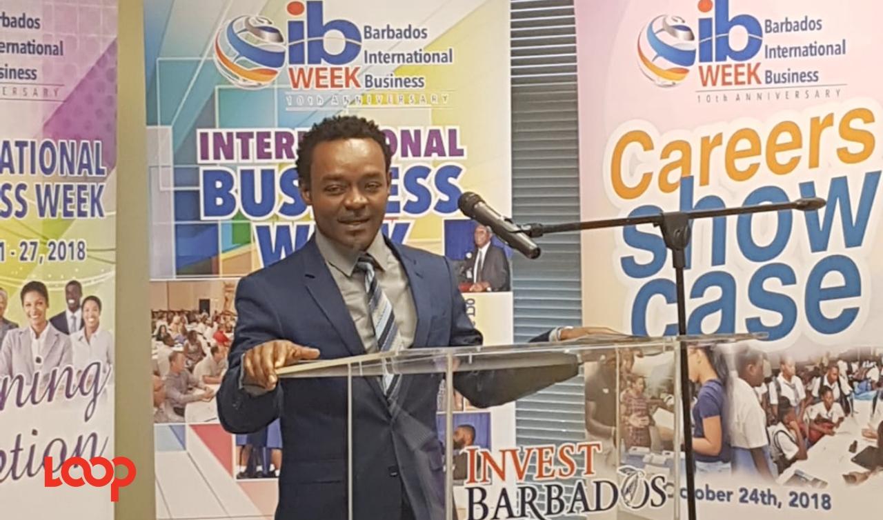 Derrick Cummins, 1st VP of BIBA, is organizing the activities for International Business Week.