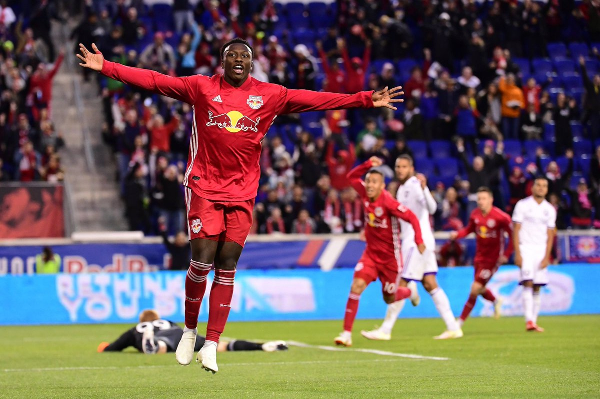 Le buteur haïtien, Derrick Etienne.