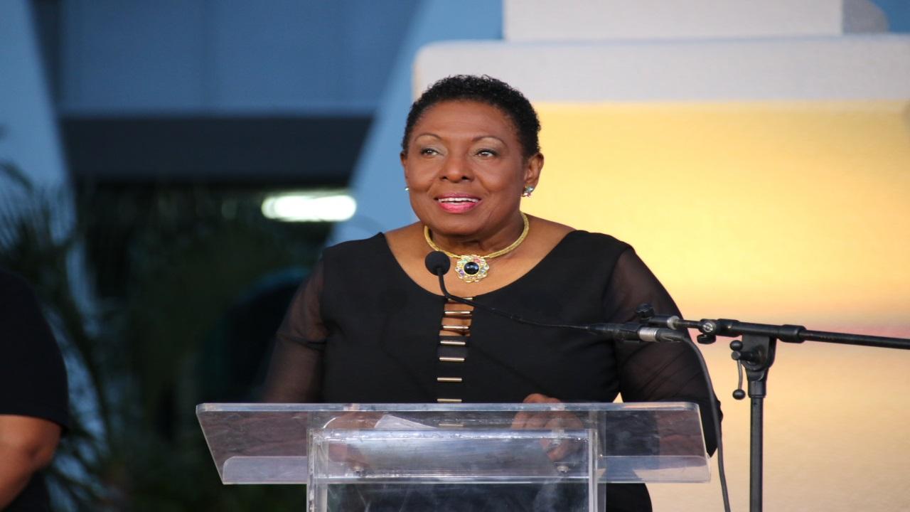 Culture Minister, Olivia 'Babsy' Grange