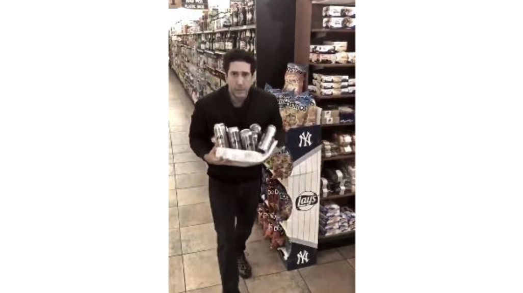A still from the video shared on David Schwimmer's Facebook page.