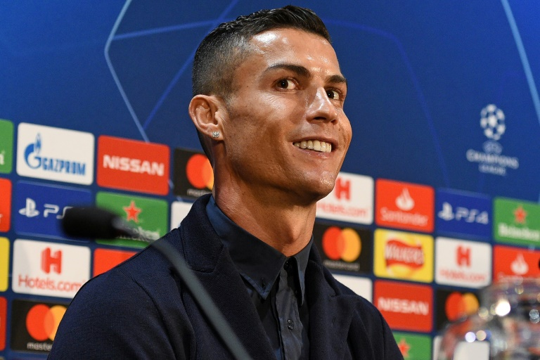 L'attaquant de la Juventus Cristiano Ronaldo en conférence de presse le 22 octobre 2018