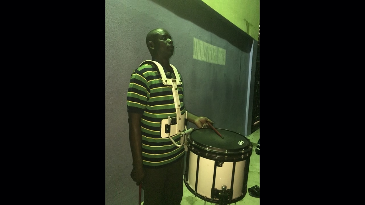 Community band leader, Ricardo 'Dannny Boy' Coleman.