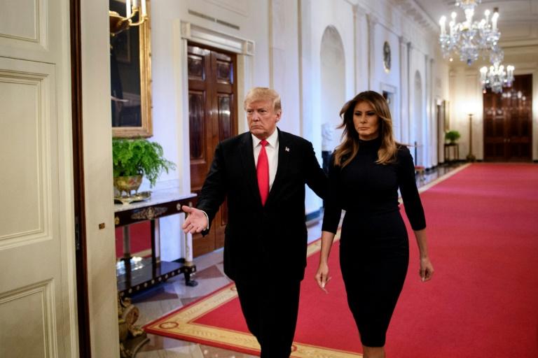 Donald et Melania Trump à la Maison Blanche, le 24 octobre 2018