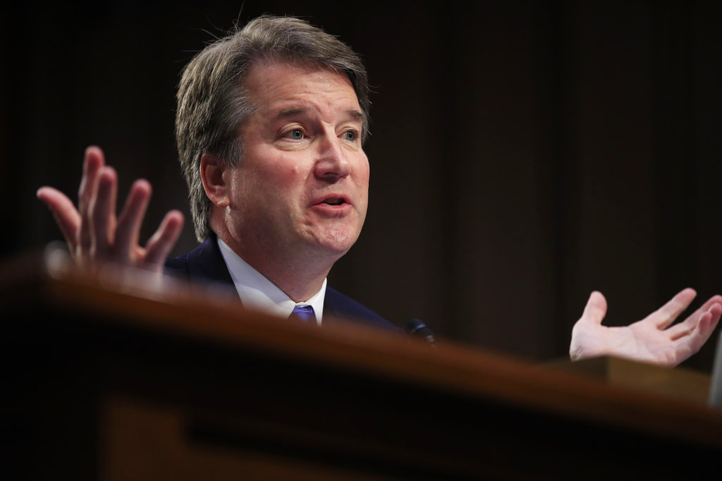 Supreme Court nominee Brett Kavanaugh testifies before the Senate Judiciary Committee on Capitol Hill in Washington. (AP Photo/Manuel Balce Ceneta/File)