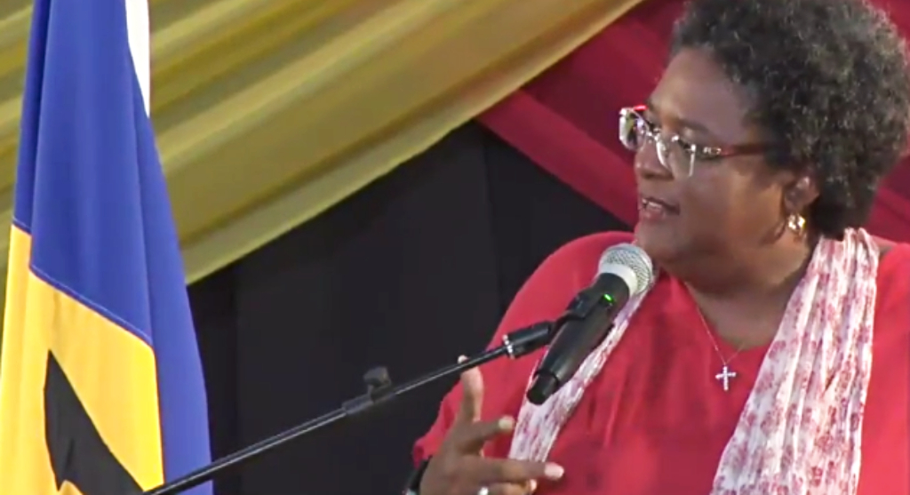 Prime Minister Mia Amor Mottley at BLP Annual Conference today, Saturday, October 27, 2018.
