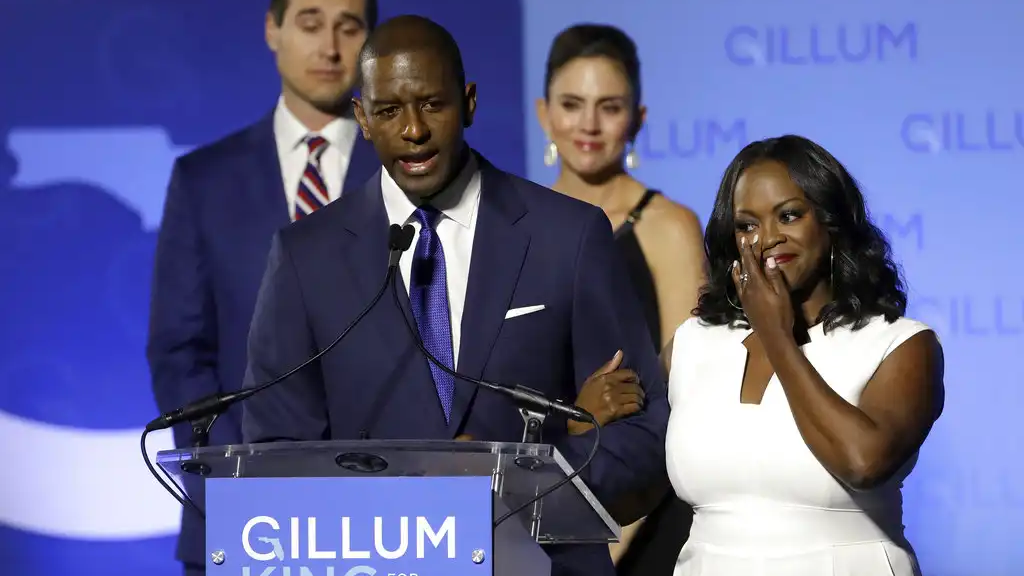 Mayor Andrew Gillum with his wife R. Jai Gillum.