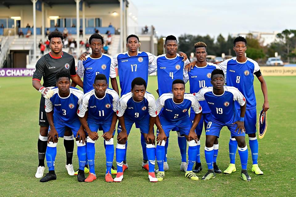 La sélection haïtienne des moins de 20 ans. Photo: Concacaf
