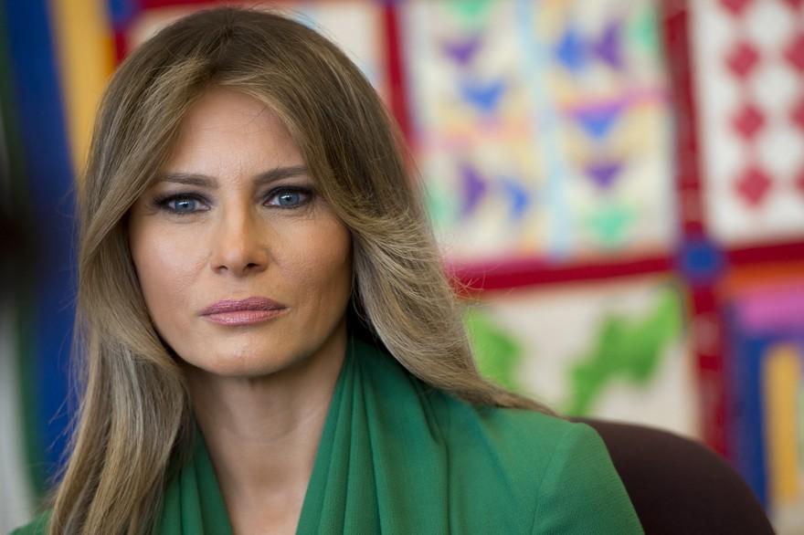 La première Dame des États-Unis, Melania Trump, le 5 avril 2017 Crédit : AFP / SAUL LOEB