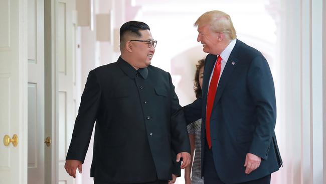 North Korean leader Kim Jong Un, left, and U.S. President Donald Trump.