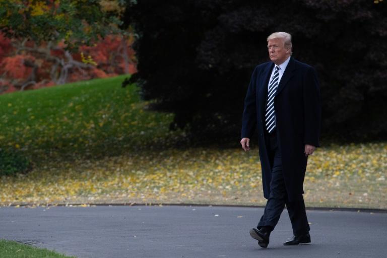 Le président américain Donald Trump à la Maison Blanche le 1er novembre 2018