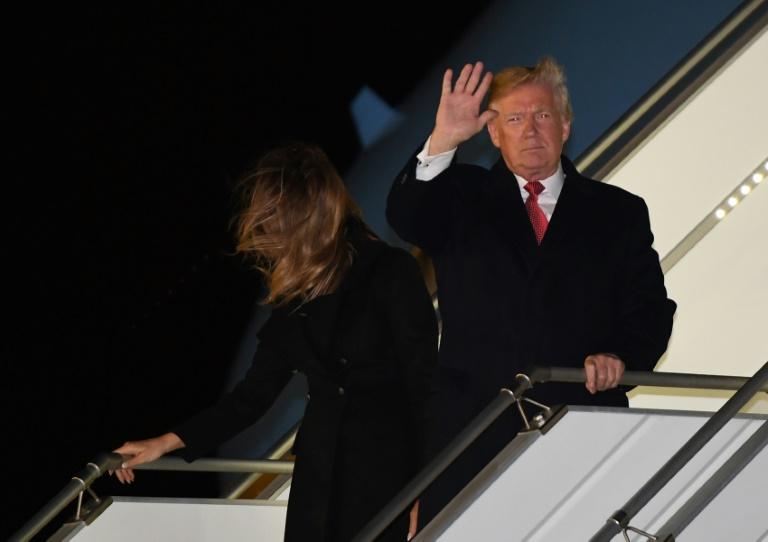 Le président américain Donald Trump et Melania Trump à leur arrivée à l'aéroport d'Orly, le 9 novembre 2018