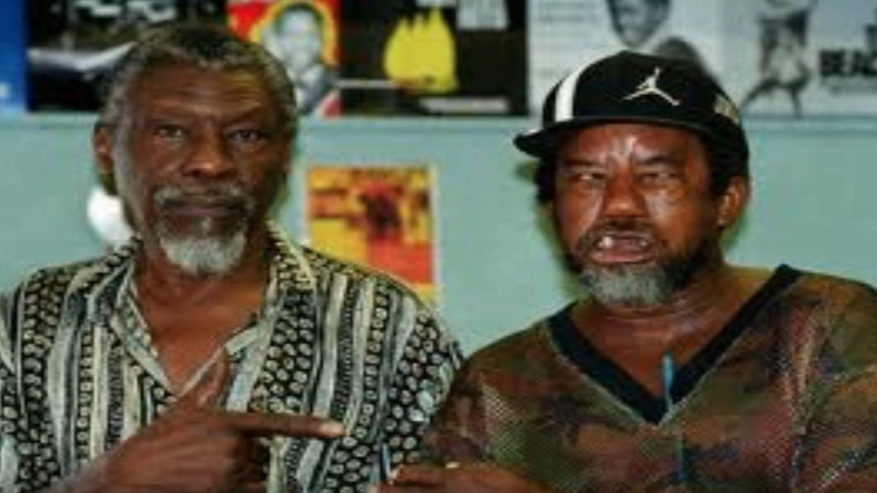 "The legendary Clement ""Sir Coxsone"" Dodd (left) with King Stitt, known as 'The Ugly One'."