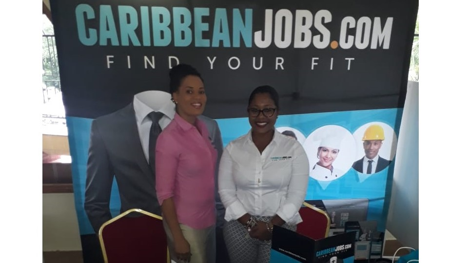 Lerielle Cole-Pierre, Marketing Manager at Caribbean Jobs (Right) with Adanna Squires, Marketing Coordinator at PEAPSL Consultancy Limited.