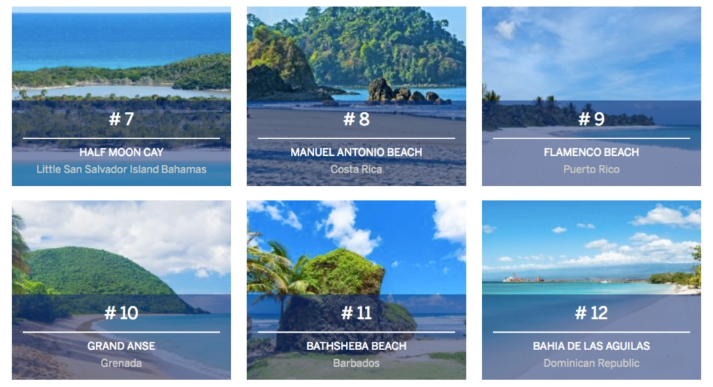 Barbados at #11 on the Central America and Caribbean Beaches list.