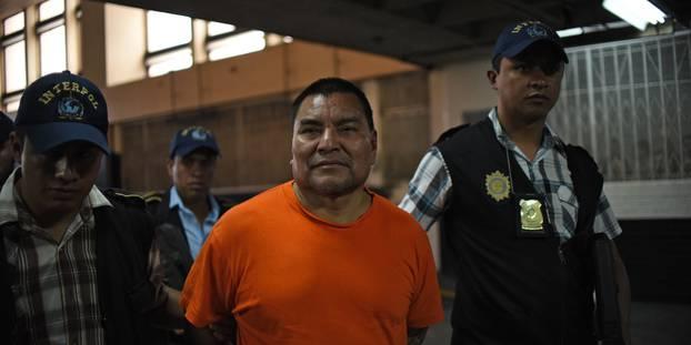 Le Guatémaltèque Santos Lopez Alonzo a été condamné à 30 ans de prison pour chacune de ses 171 victimes. @ JOHAN ORDONEZ / AFP