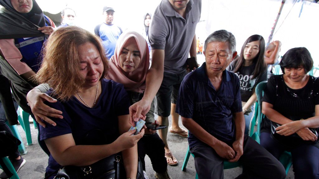 Relatives of passengers on crashed Lion Air jet.