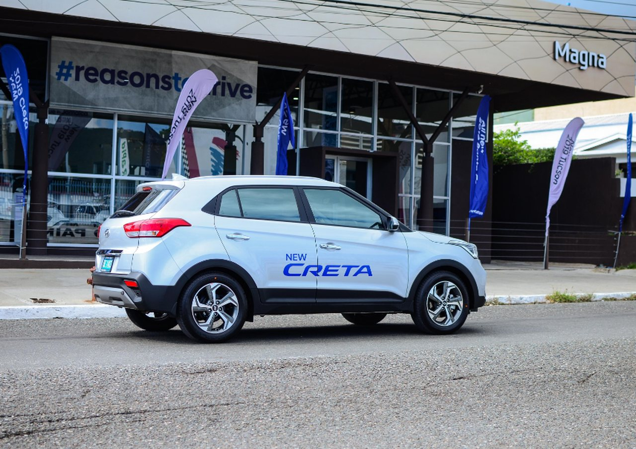 A Hyundai customer takes the 2019 Creta on a test drive on Old Hope Road.