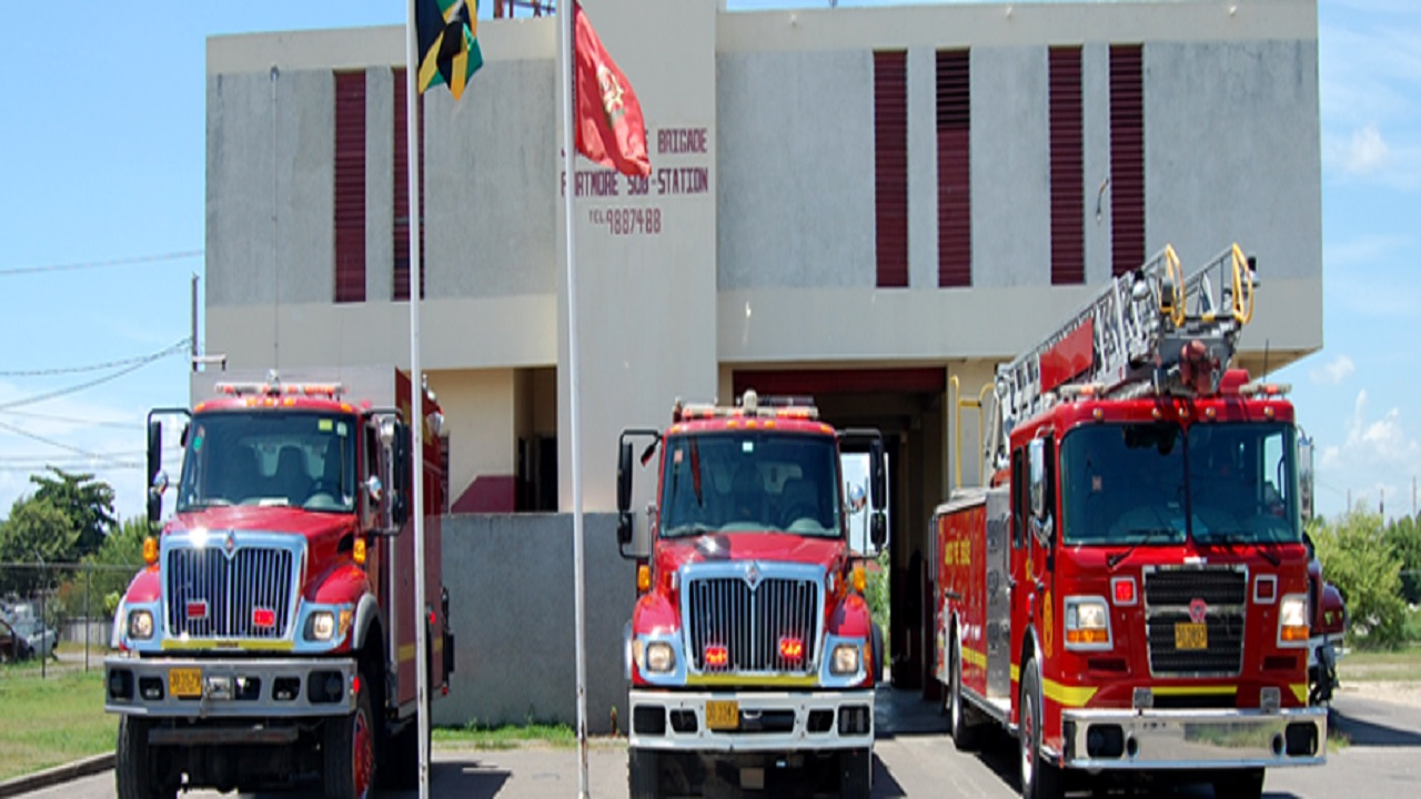 File photo of fire units parked outside the Portmore Fire Station in St Catherine.