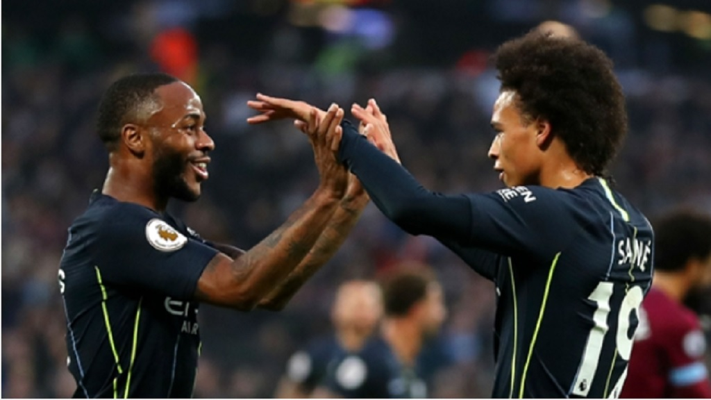Raheem Sterling and Leroy Sane.