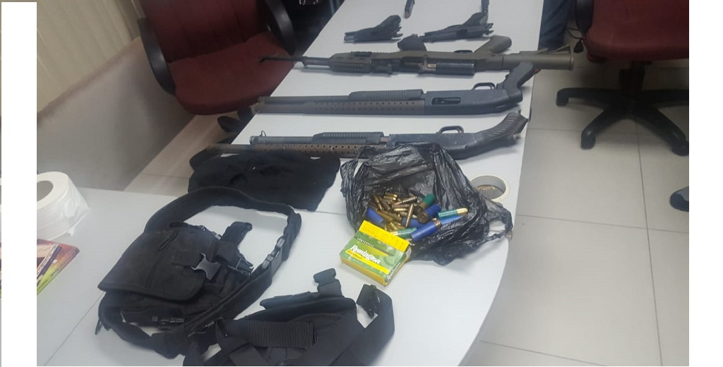 File photo of guns seized in a recent police operation