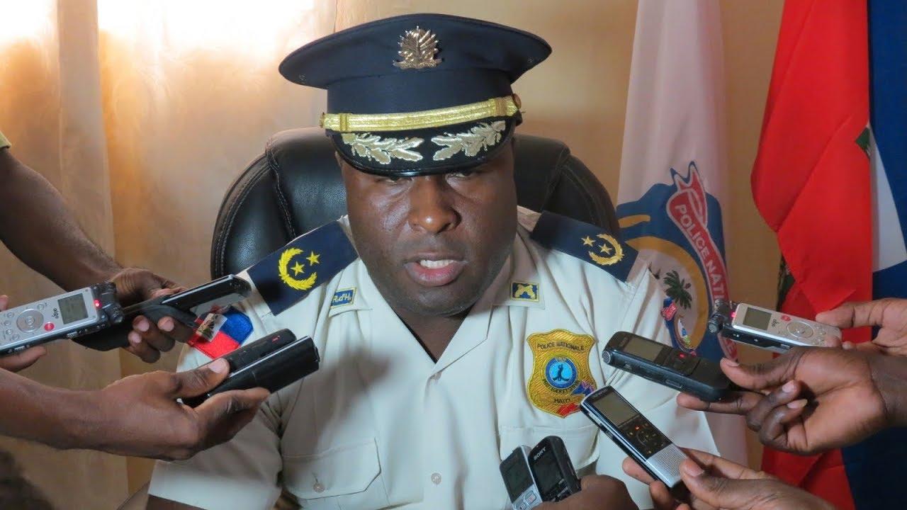 Photo : Le DDO de la PNH Berson Soljour _ Crédit Photo : Haitiliberté.com
