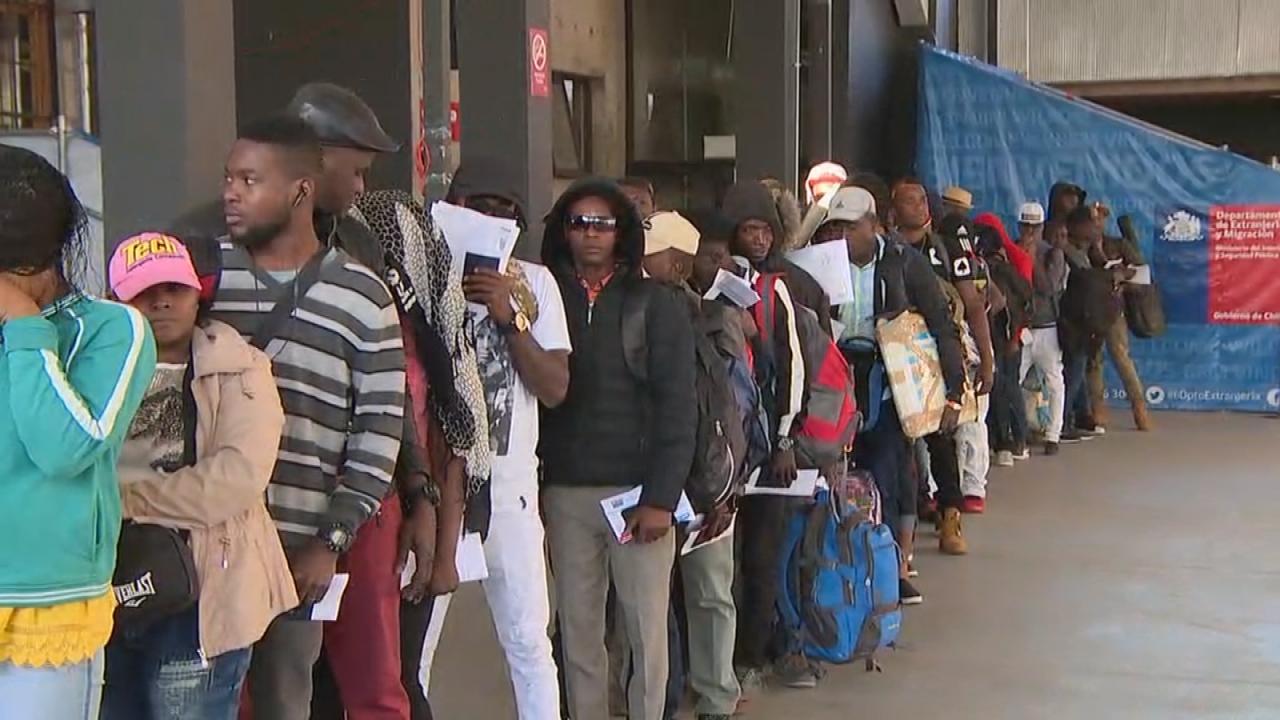 Chili: Les 179 Haïtiens sont en route pour Port-au-Prince. Photo: CNN Chile