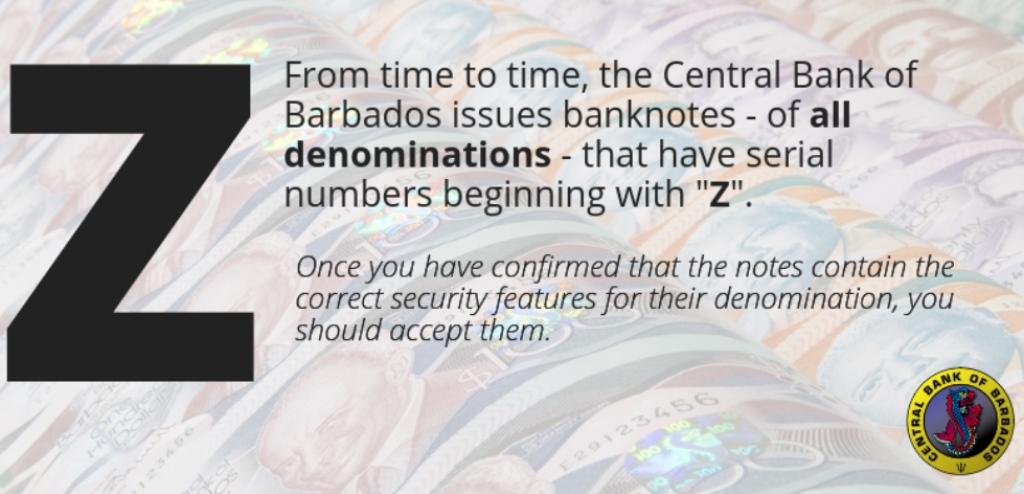 Central Bank notice to the public.