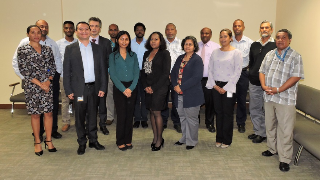 Pictured above: Participants of the three-day training session (November 28 – 30) on the Land Administration Domain Model (LADM).  Participants at the training included representatives from the Land and Survey Division, Town and Country Planning Division, the Trinidad and Tobago Local Government Association and technical persons from the Ministry of the Attorney General and Legal Affairs.