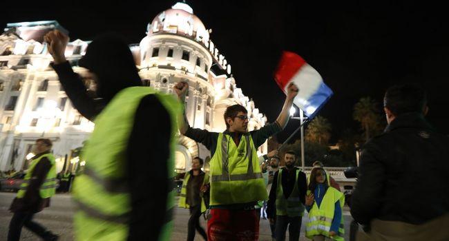 """Manifestation de """"gilets jaunes"""" à Nice, le 15 novembre 2018"""