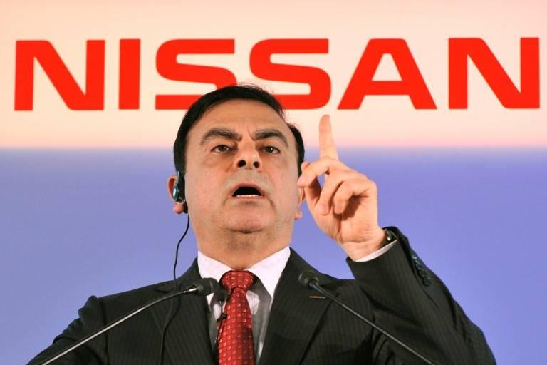 Carlos Ghosn, le président révoqué de Nissan Motors, lors d'une conférence de presse le 12 mai 2011 à Yokohama au Japon