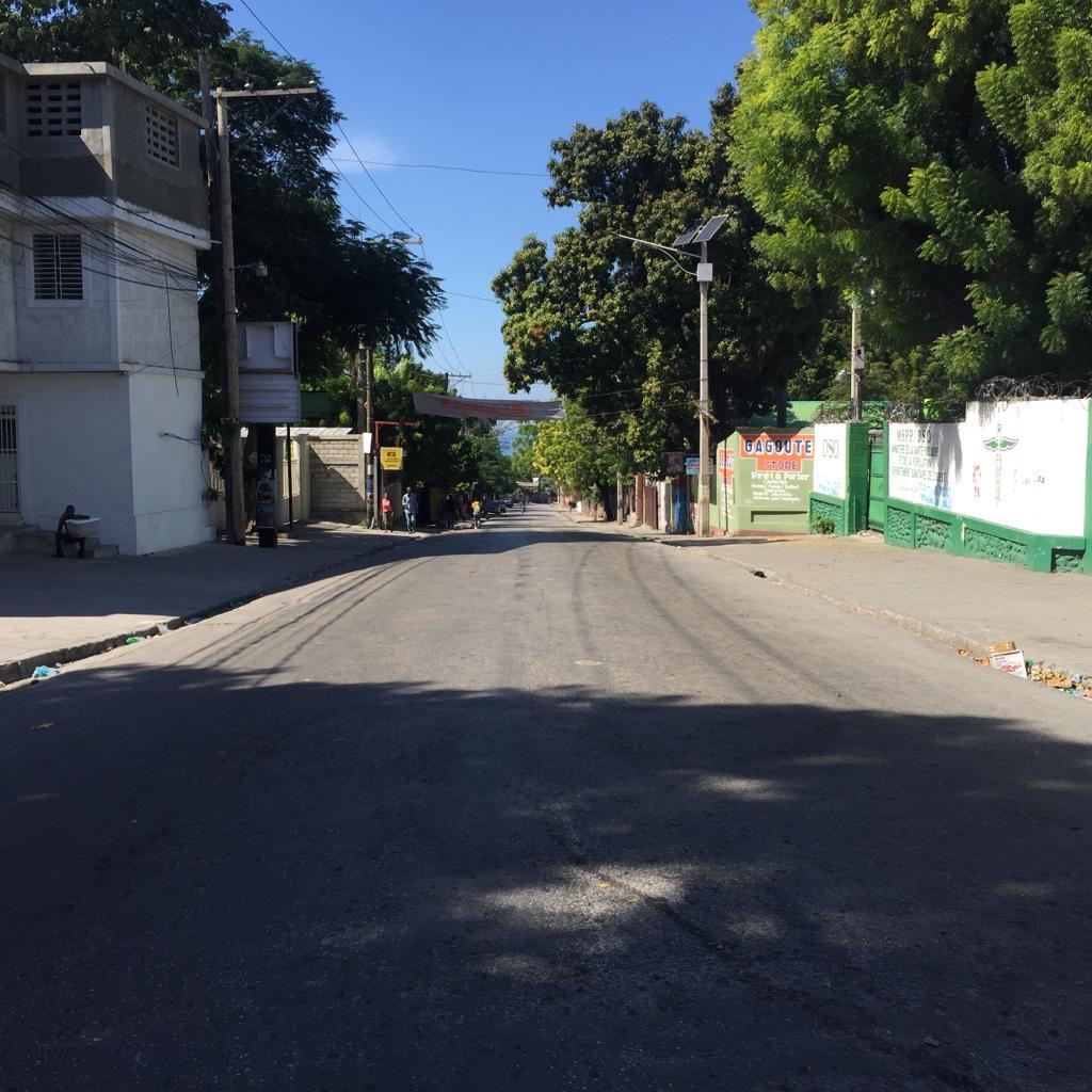 Photo prise lors de la deuxième journée de grève en Haiti