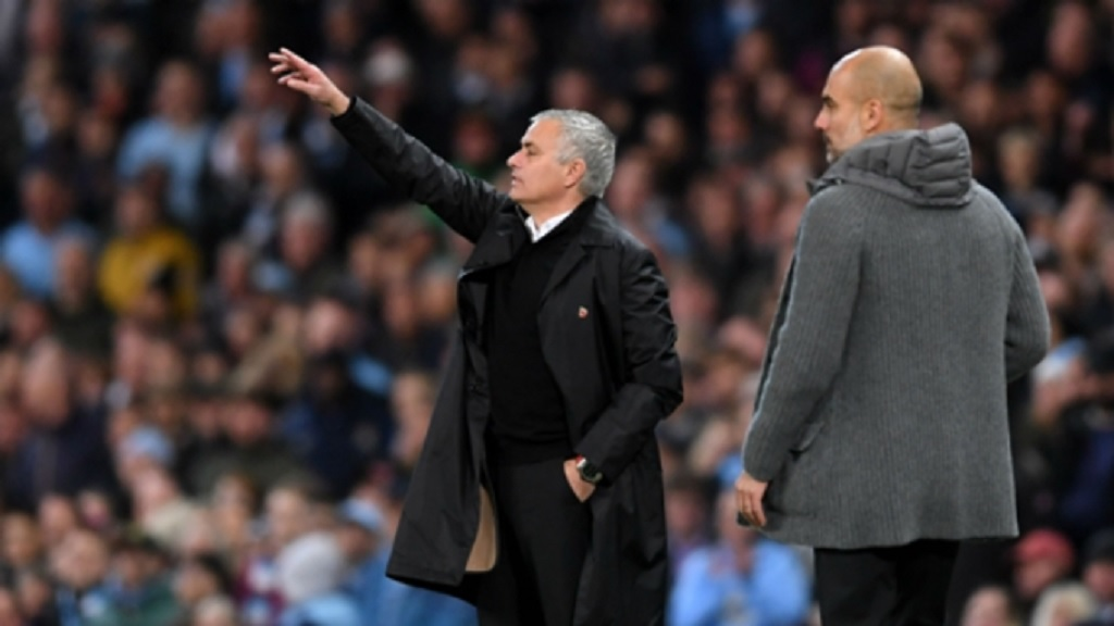 Manchester United boss Jose Mourinho  (left) and Manchester City manager Pep Guardiola.