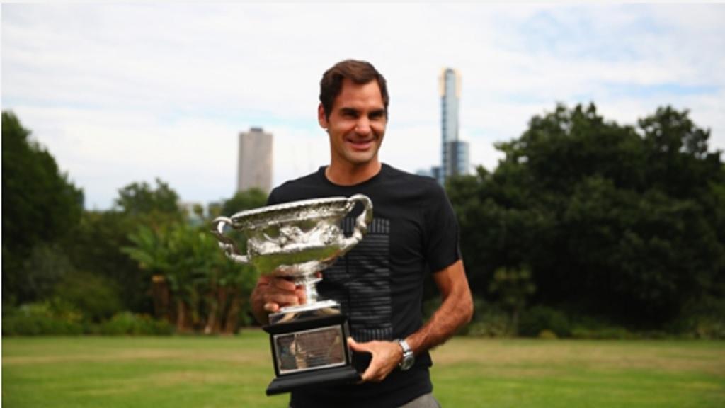 Australian Open champion Roger Federer.