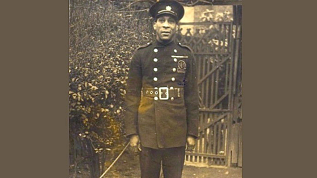 Photo: George Arthur Roberts, of Trinidad and Tobago, was one of the first black men to serve in World War One. The firefighter, known as the 'Coconut bomber', was known for tossing bombs back into enemy lines. Roberts was honoured with the British Empire Medal in 1944. A blue plaque was erected in his honour in Camberwell, London.
