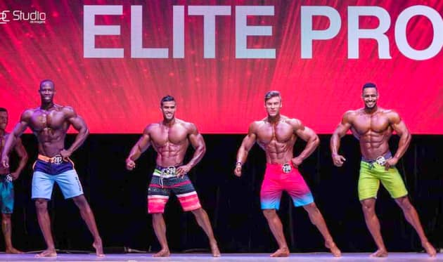 Renol Jr Mendes rafle la 4e place d'un concours international de Bodybuilding / Photo. Le National.