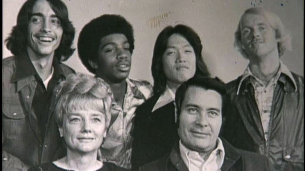Bottom right: Cult leader Jim Jones and the members of his cult, People's Temple.